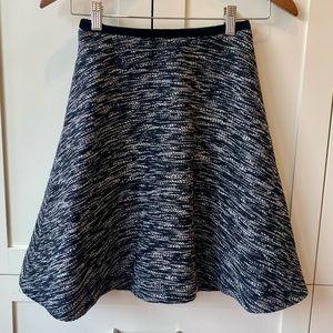 Pink Tartan A-Line Wool Blend Skirt